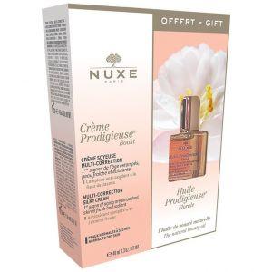 Nuxe Creme Prodigieuse Boost Multi-Correction Silky Cream, 40ml & ΔΩΡΟ Huile Prodigieuse Floral, 10ml