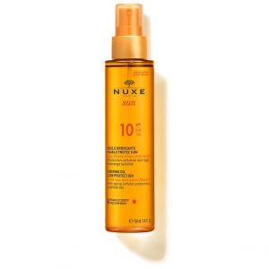 Nuxe Sun Tanning Oil for Face and Body SPF10, 150ml