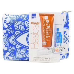 Intermed Luxurious Suncare Sun Silk Cover Face Cream Bronze SPF50, 75ml & Hydrating Antioxidant Spray Mist, 50ml & Hydrating Lip Balm SPF30, 15ml