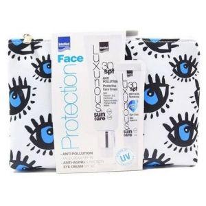 Intermed Luxurious Anti-Pollution Protective Face Cream SPF30, 50ml & Anti-ageing Eye Cream SPF30, 15ml