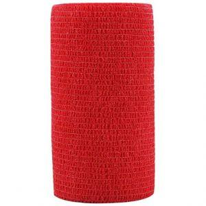 Hansaplast Cohesive Bandage Red, 6cmx4m