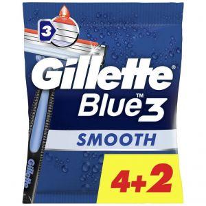 Gillette Blue 3 Smooth, 6τμχ