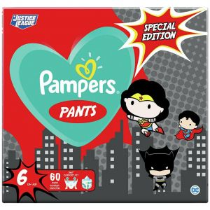 Pampers Pants Special Edition Justice League Νο6 (15+kg), 60τμχ