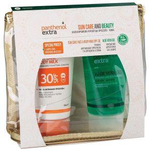 Parthenol Extra Promo Sun Care Face & Body Milk SPF30 150ml & Aloe Vera Gel 150ml