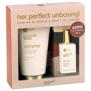 Panthenol Extra Promo Femme Eau de Toilette 50ml & Cleanser Face,Body & Hair 200ml