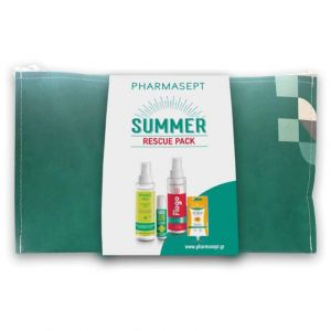Pharmasept Summer Rescue Pack - Insect lotion 100ml & SOS After Bite 15ml & Flogo Instant Calm Spray 100ml & Arnica Cream 15ml