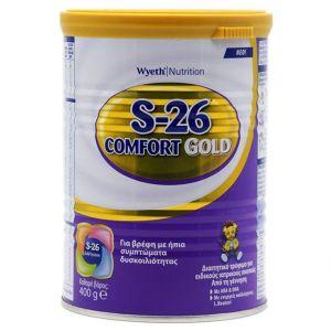 Wyeth S26 Complete Comfort Gold Γάλα για Βρέφη με Ήπια Συμπτώματα Δυσκοιλιότητας, 400gr