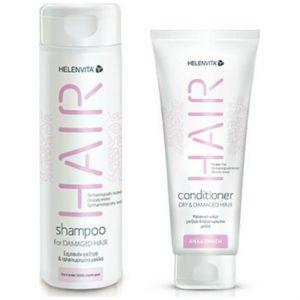 Helenvita Promo Hair Shampoo For Damaged Hair Σαμπουάν Για Ταλαιπωρημένα Μαλλιά 300ml & Hair Conditioner Dry & Damaged Hair Μαλακτική Κρέμα 200ml