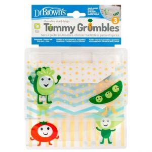 Dr.Brown's Tummy Grumbles Σετ Σακουλάκια για Σνακ, 3 τμχ