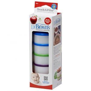 Dr. Brown's Snack A Pillar Κυπελλάκι Αποθήκευσης Φαγητού 6m+, 4τμχ