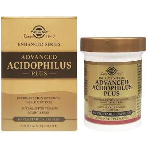 Solgar Advanced Acidophilus Plus Φόρμουλα Προβιοτικών για Αποκατάσταση της Εντερικής Χλωρίδας, 60veg.caps