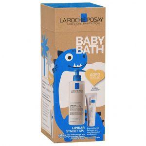 La Roche Posay Πακέτο Promo Eco Pack Baby After Bath Lipikar Fluid Καταπραϋντικό Ενυδατικό Γαλάκτωμα Προσώπου - Σώματος Για Μετά Το Μπάνιο 400ml & ΔΩΡΟ Cicaplast Baume B5 Επανορθωτικό Βάλσαμο Για Τους Ερεθισμούς 15ml