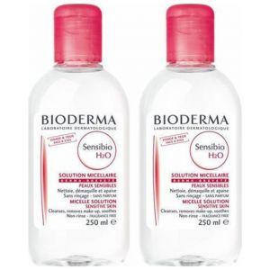 Bioderma Sensibio H2O Εξαιρετικά Ήπιο Νερό Καθαρισμού Προσώπου & Ματιών Ιδανικό για Ευαίσθητες Επιδερμίδες 1+1 Δώρο, 2x250 ml