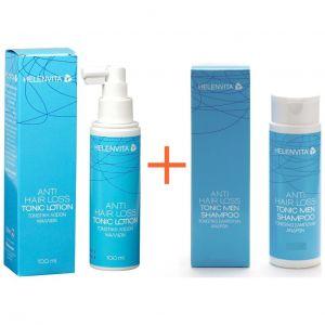 Helenvita Anti Hair Loss Πακέτο Προσφοράς με Tonic Lotion Τονωτική Λοσιόν, 100ml & Δώρο Τονωτικό Σαμπουάν, 100ml