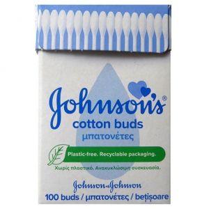 Johnson's Cotton Buds Μπατονέτες σε Ανακυκλώσιμη Συσκευασία, 100τεμ